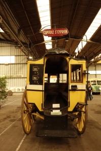 Omnibus à impériale n°7, Toulouse, de 1863. Construit sur le modèle parisien de 1855. Il pouvait accueillir 12 personne à l'intérieur, et 10 en haut. Photographie personnelle.